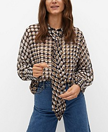 Women's Geometric-Print Blouse