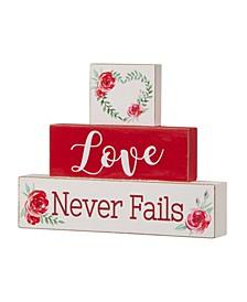 Valentine's Block Table Decor
