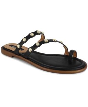 Women's Malka Imitation Pearl-Ornamented Toe-Ring Flat Sandals Women's Shoes