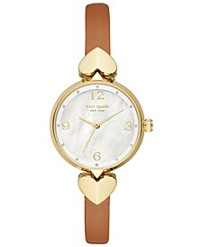 Hollis Luggage Leather Strap Watch 30mm
