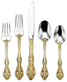 Golden Michelangelo 5 Piece Place Setting