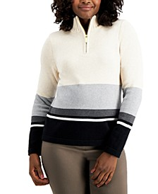 Striped Zip-Up Sweater, Created for Macy's
