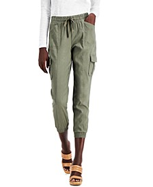 Petite Cargo Jogger Pants, Created for Macy's