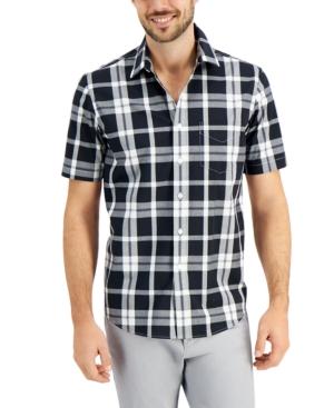 Men's Monochrome Plaid Shirt