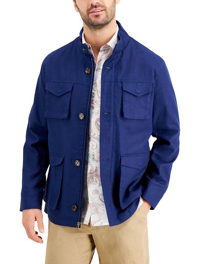 Tasso Elba Men's Regular-Fit Linen/Cotton Jacket
