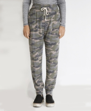 Coin WOMEN'S CAMOUFLAGE COZY POCKET JOGGERS