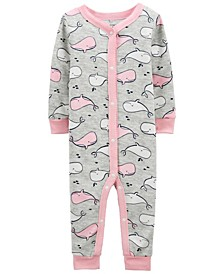Toddler Girls Whale Snug Fit Footless Pajama Set