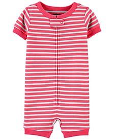 Toddler Boys or Girls Striped Snug Fit Romper Pajama Set