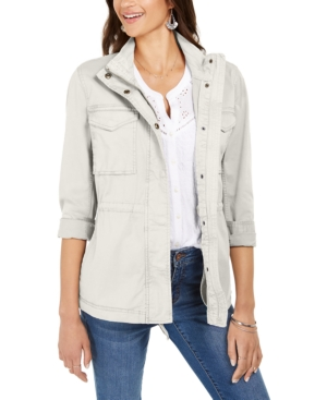 Style & Co Cottons PETITE COTTON UTILITY JACKET, CREATED FOR MACY'S
