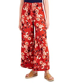 Printed Smocked-Waist Wide-Leg Pants, Created for Macy's
