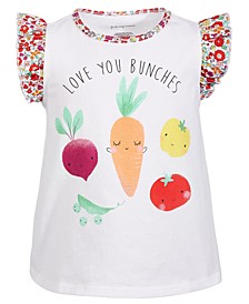 Baby Girls Love You Bunches Cotton Top, Created for Macy's