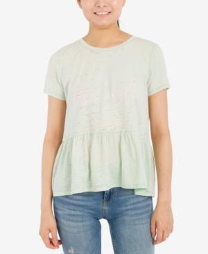 Juniors' Peplum T-Shirt