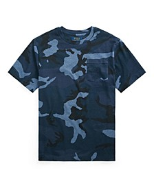 Big Boys Camo Jersey Pocket T-shirt