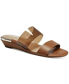 Women's Tilley Vinyl Slide Demi-Wedge Sandals, Created for Macy's