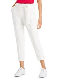 Side-Tie Slim Pants, Created for Macy's