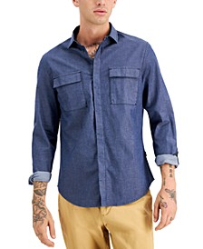 Men's Chambray Button-Front Shirt