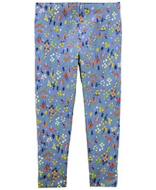 Big Girls Floral Capri Leggings