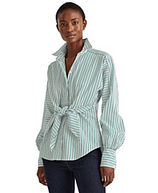 Puffed Sleeve Buttoned Top