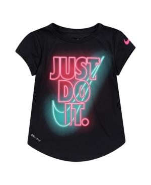 Nike TODDLER GIRLS JUST DO IT GLOW T-SHIRT