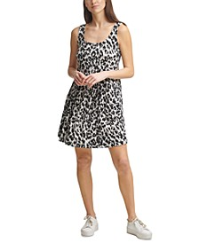 Leopard-Print A-Line Dress