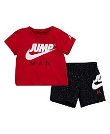 Little Boys Short Sleeve Tee and Shorts Set