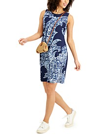 Paisley-Print Sleeveless Dress, Created for Macy's