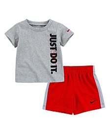 Little Boy Just Do It Top and Short Set