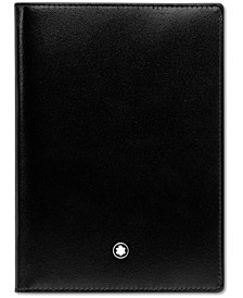 Men's Black Leather Meisterstück Passport Holder 35285
