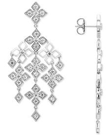 Diamond Floral Chandelier Drop Earrings (1-7/8 ct. t.w.) in 14k White Gold