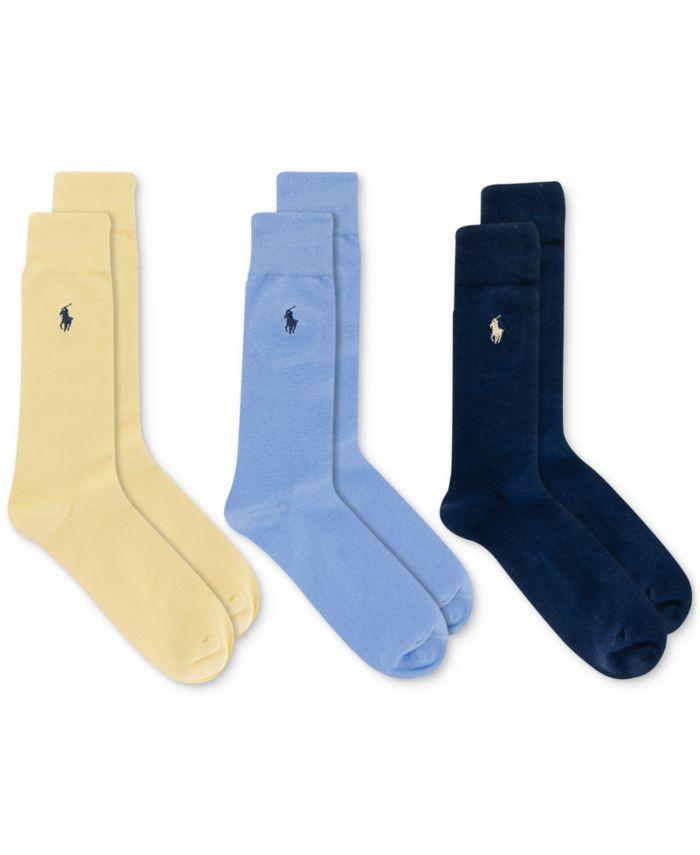 Polo Ralph Lauren Men's 3-Pk. Dress Socks & Reviews - Underwear & Socks - Men - Macy's