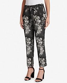 Metallic Jacquard Pants