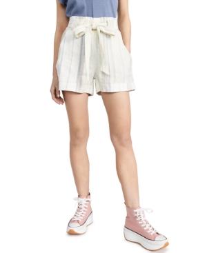 Juniors' Striped Tie-Waist Shorts