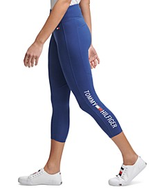 Logo Cropped High-Waist Leggings