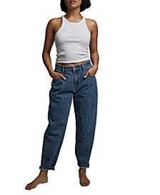 Petite Slouch Mom Jeans