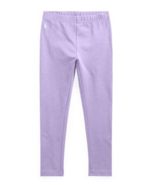 Polo Ralph Lauren Cottons LITTLE GIRLS STRETCH COTTON JERSEY LEGGING PANTS