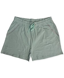 Trendy Plus Size Crystal-Studded Shorts