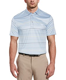 Men's Big and Tall Striped Polo Shirt