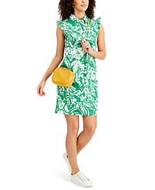 Printed Ruffled Shift Dress, Created for Macy's