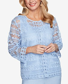 Petite French Bistro Solid Lace Two-For-One