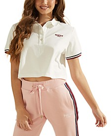 Cropped Logo Polo Shirt