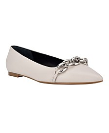 Women's Arla Chunky Chain Pointy Toe Dress Flats