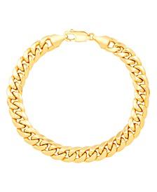 Men's Cuban Chain Link Bracelet in 14k Gold