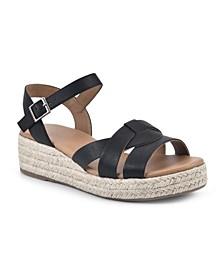 Dapper Espadrille Wedge Sandals