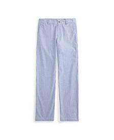 Big Boys Stretch Cotton Seersucker Skinny Pant