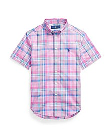 Big Boys Plaid Cotton Poplin Shirt