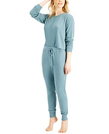 Long-Sleeve Sleep Top & Jogger Pants Collection, Created for Macy's