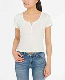 Juniors' Henley T-Shirt