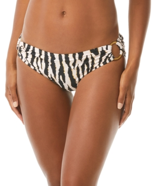 Printed Shirred Bikini Bottoms Women's Swimsuit