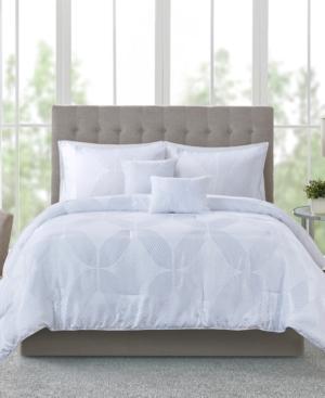 Addison Park Lynx 9-pc. Tonal Jacquard Queen Comforter Set Bedding In White