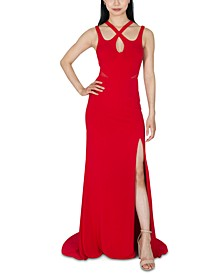 Juniors' Strappy Gown